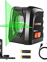 cheap -laser level, lomvum 3 mode green laser level 100ft self-leveling horizontal/vertical line and cross-line with dual laser sources, magnetic pivoting base, battery included