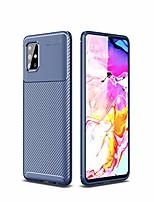 cheap -samsung galaxy a51 case, cruzerlite carbon fiber texture design cover anti-scratch shock absorption case for samsung galaxy a51 (carbon blue)