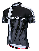 cheap -Men's Short Sleeve Cycling Jersey Black Bike Top Quick Dry Sports Clothing Apparel / Micro-elastic / Athleisure