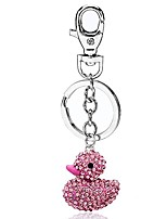 cheap -classic duck charm fashionable keychain - sparkling crystal - pink