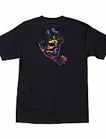 cheap -men's hand splatter shirts,x-large,black