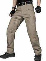 cheap -men's water resistant pants relaxed fit tactical combat army cargo work pants with multi pocket (khaki, 32w/34l)