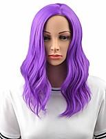 "cheap -14"" women girls short curly wavy bob wig rose net with wig cap (purple2)"