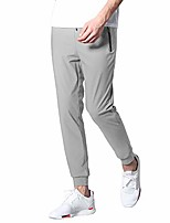 cheap -men's casual joggers breathable quick-dry hiking pants lightweight sweatpants with zipper pockets(gk3509light grey-l)