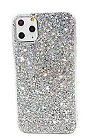 "cheap -compatible with iphone 11 pro max case 6.5"", cute clear slim girl women glitter design pattern shockproof full body soft bumper + hard cover case for iphone 11pro max,colorful silver"