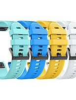 cheap -compatible with forerunner 935 watch band silicone watch strap replacement for fenix 5/fenix 5 plus/fenix 6/fenix 6 pro/forerunner 935/forerunner 945/approach s60/quat(yellow/teal/blue/white)