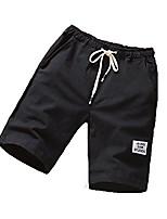 cheap -shorts big and tall casual drawstring elastic waist workout shorts fashion summer beach shorts with pockets (black,medium)