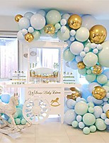 cheap -124pcs/set macaron blue pastel balloons garland arch kit confetti birthday wedding baby shower anniversary party decoration
