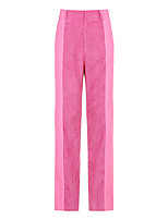cheap -Women's Basic Streetwear Comfort Daily Going out Pants Chinos Pants Solid Colored Full Length Purple Blushing Pink Khaki