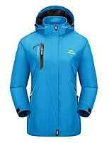 cheap -women's water resistant mountain jackets soft shell running jacket casual coats lake blue
