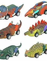 cheap -toy cars-dinosaur toys ,toys for 2 3 4 5+ year old boys girls 6 pack mini dino cars with big tire toddler toys for boys age 2 3 4 5 gifts for 2-10 year old boys pull back vehicles toys for kids
