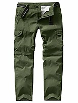 cheap -men's quick drying convertible pants lightweight outdoor athletic shorts hiking travel cargo durable trousers #6106 army green-30