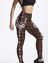 cheap -Women's Sporty Comfort Gym Yoga Leggings Pants Animal Ankle-Length Print Rainbow