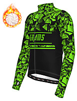 cheap -21Grams Men's Long Sleeve Cycling Jacket Winter Fleece Polyester White Blue Green Bike Jacket Top Mountain Bike MTB Road Bike Cycling Thermal Warm Fleece Lining Breathable Sports Clothing Apparel