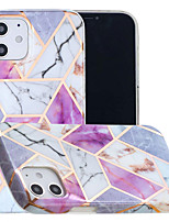 cheap -Case For Apple iPhone 12 / iPhone 11 / iPhone 12 Pro Max Shockproof Back Cover Geometric Pattern TPU