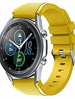 cheap -22mm sport band compatible with samsung galaxy watch 3 45mm/gear s3 frontier/classic/samsung galaxy watch 46mm/ticwatch s2/e2/versa 2 band,quick released silicone sport strap (flower yellow)
