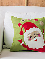 cheap -Christmas Style Snowflake Embroidery Santa Claus Elk Color Series Home Office Pillow Case Cover Living Room Bedroom Sofa Cushion Cover