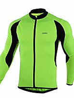 cheap -men's thermal cycling jersey mtb bike jacket for cool weather (s, green)