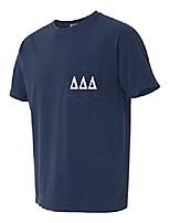 cheap -delta delta delta sorority tri delt comfort colors pocket t-shirt (medium, true navy)