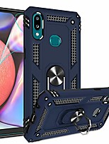 cheap -galaxy a10s case (not fit galaxy a10/a10e) with hd screen protector,  [military grade] 360 degree rotating metal ring holder kickstand armor bracket cover phone case for samsung a10s blue