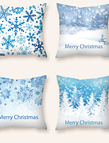 cheap -Cushion Cover 4PCS Christmas Party Decoration Christmas Gift Short Plush Soft Decorative Square Throw Pillow Cover Cushion Case Pillowcase for Sofa Bedroom 45 x 45 cm (18 x 18 Inch) Superior Quality