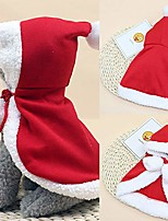 cheap -pet clothes christmas costume poncho cape with hat santa claus cloak for cats small large dogs