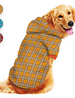 cheap -Dog Hoodie Plaid Printed Classic Cute British Casual / Daily Dog Clothes Puppy Clothes Dog Outfits Breathable Yellow Red Blue Costume for Girl and Boy Dog Polyster S M L XL