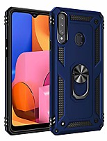 cheap -case for samsung galaxy a20s sm-a207f, sm-a207m case cover .car bracket magnetic + 360¡ãviewing rotation stand.for galaxy a20s blue