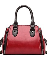 cheap -Women's Bags PU Leather Leather Top Handle Bag Zipper Handbags Daily Outdoor Black Blue Red Yellow
