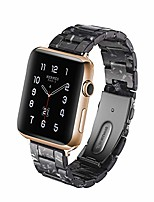 cheap -cmdfoo for apple watch band 42/44mm - fashion resin iwatch band bracelet compatible with copper stainless steel buckle for apple watch series 5 4 3 2 1(black)