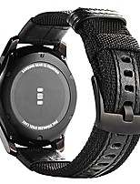 cheap -galaxy watch 46mm/ galaxy watch 3 45mm bands,  gear s3 frontier classic nylon band, 22 mm quick release replacement strap large sport wristband compatible samsung gear s3 smart watch, black