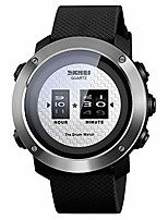 cheap -mens digital sports watch, creative drum watches outdoor waterproof black large face wristwatch for men