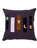 cheap -Cushion Cover Simple Fashion Letter Patch Embroidered Pillow Case Cover Living Room Bedroom Sofa Cushion Cover Modern Sample Room Cushion Cover