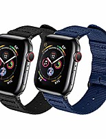 cheap -compatible with apple watch band 38mm 40mm 42mm 44mm women men nylon rugged replacement iwatch band military-style buckle grey adapters for sport series 5 4 3 2 1 (2-black+navy blue, 38mm/40mm)