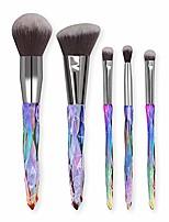 cheap -women makeup brush 5pcs makeup brushes set diomand eye shadow foundation concealer blush lip make up brushes brochas soft (color : 06)