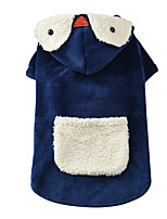 cheap -Dog Cat Coat Penguin Funny Casual / Daily Winter Dog Clothes Puppy Clothes Dog Outfits Breathable Blue Costume for Girl and Boy Dog Flannel Fabric XS S M L XL