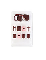 cheap -24pcs Plastic Removable Multi Function Cute Daily Artificial Nail Tips for Finger Nail / Romantic Series