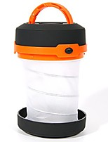 cheap -led camping lantern collapsible flashlight led light ultralight waterproof outdoor lights with 3 modes (strong, weak, strobe) for fishing hiking camping emergency (orange) ld047o