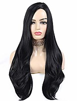cheap -black wig long straight wigs for women synthetic wig natural looking side part 150% density heat resistant fiber wavy wigs for party & cosplay daily wear 22 inch