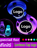 cheap -2x Led Car Logo Cup lights For Infiniti q50 fx35 g35 g37 m35 qx70 qx60 fx fx37 q30 Logo light Luminous Coaster Accessories