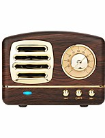 cheap -Dosmix Wireless Stereo Retro Speakers Portable Bluetooth Vintage Speakers with Powerful Sound Answering Calls Alexa Support TF Card AUX for Kitchen Bedrooms Party Outdoor Android iOS Wooden