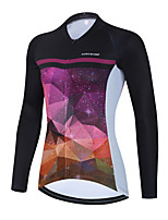 cheap -Women's Long Sleeve Cycling Jersey Winter Purple Bike Top Mountain Bike MTB Road Bike Cycling Breathable Quick Dry Sports Clothing Apparel / Stretchy / Athletic