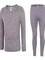 cheap -men's high tech fiber thermals long johns tops & pants set xl grey