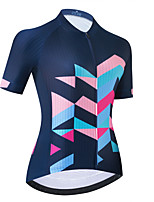 cheap -Women's Short Sleeve Cycling Jersey Dark Navy Bike Top Mountain Bike MTB Road Bike Cycling Breathable Quick Dry Sports Clothing Apparel / Stretchy / Athletic