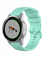 cheap -quick release sports soft silicone color watch bands for garmin vivoactive 4s, 18mm universal adjustable strap for garmin vivoactive 4s women men smartwatch (mint green)