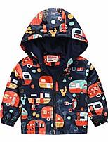 cheap -1-5 year kid's hooded jackets autumn winter thin windbreaker coat, toddler boy girl cute printed lightweight outerwear