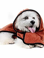 cheap -pet paw bathrobe fast dry pet bath towel, quickly absorbing water bath robe, for small medium large dogs,brown,xs
