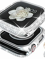 cheap -bling case compatible for apple watch case 40mm se / series 6 5 4 , women girl luxury sparkling crystal diamond stainless metal bezel case cover for iwatch se / series 6 5 4 (silver, 40mm)
