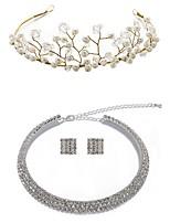 cheap -Women's Head Jewelry Necklace Earrings Imitation Pearl Earrings Jewelry White For Wedding