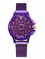 cheap -360 degree rotating fashion diamond dial to run ladies quartz mesh belt watch